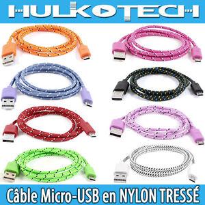 CABLE-CORDON-USB-MICRO-en-Tissu-pour-Motorola-MOTO-G-MOTO-X-Razr-i-HD