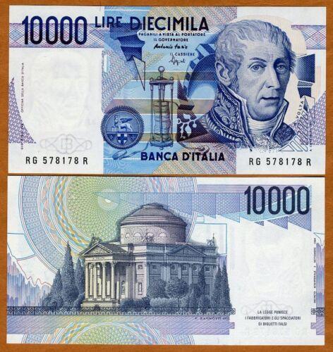 1984 Italy 10000 112c P-112 UNC 10,000 Lire Last pre-Euro