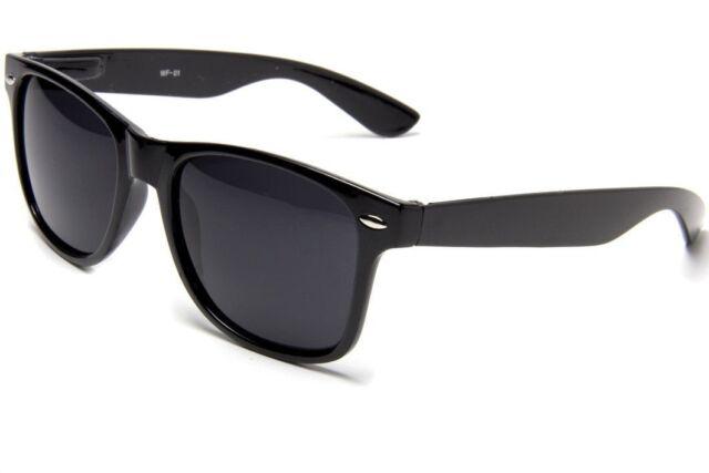 8540af4b292 Glossy Black Sunglasses Retro 80s Dark Lenses - for sale online