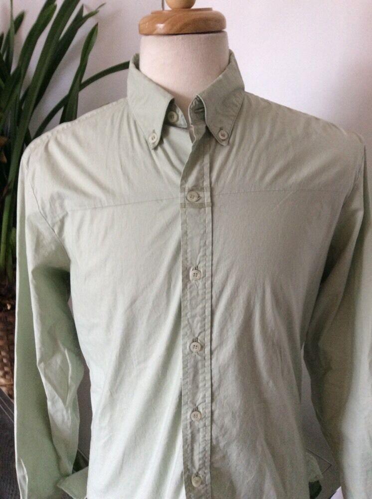 Diesel Style Lab Light Green Cotton Stretch Men's Button Front Shirt