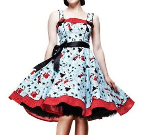 HELL-BUNNY-50s-Rockabilly-DIXIE-DRESS-Pin-Up-Vintage-All-Sizes