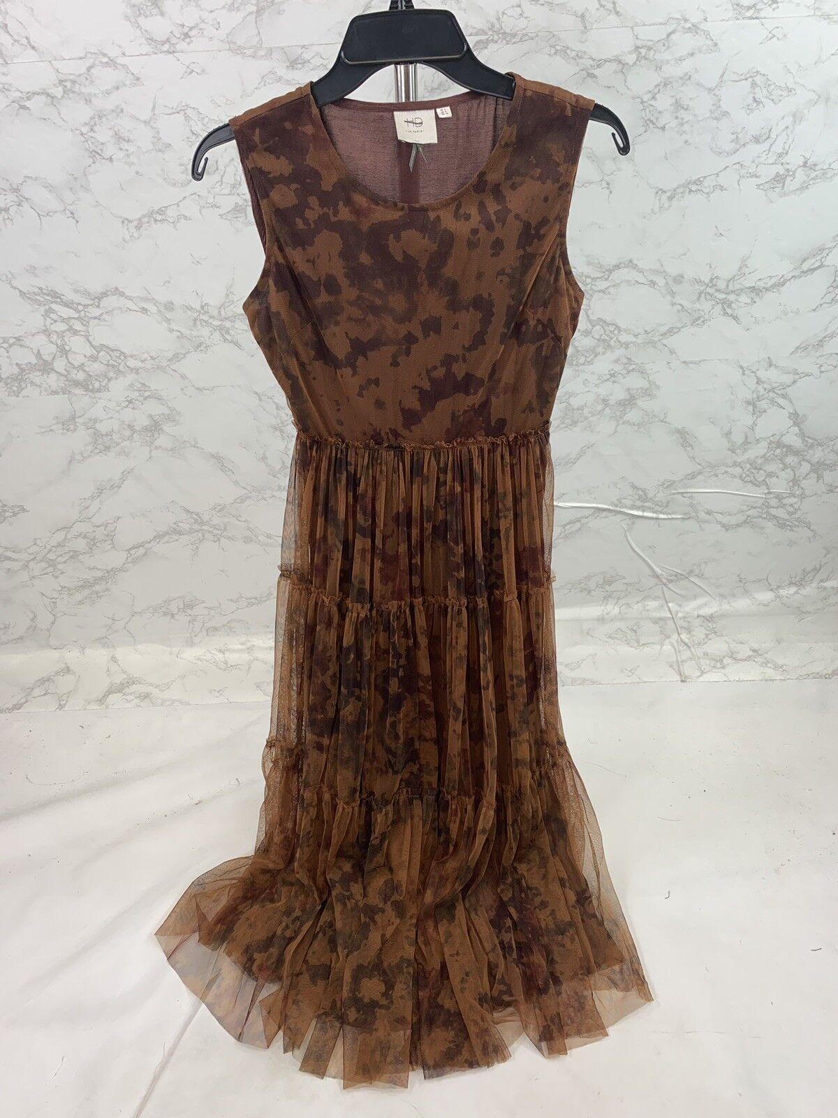 Anthropologie Hd In Paris Paris Paris Women's Brown Mesh Dress Size 2 ebd138
