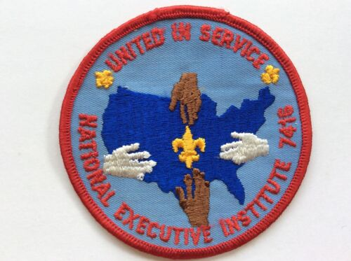 1974 7418 NEI National Executives Institute pocket patch