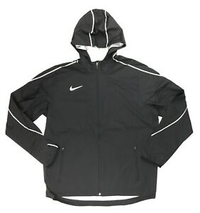 Nike-Running-Woven-Jacket-Zippered-Pockets-Reflective-Women-039-s-M-AJ3657-Black
