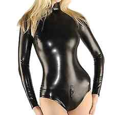 Latex Rubber Gummi Ganzanzug Black Kostüm Tights Catsuit Zentai Suit Size XS-XXL