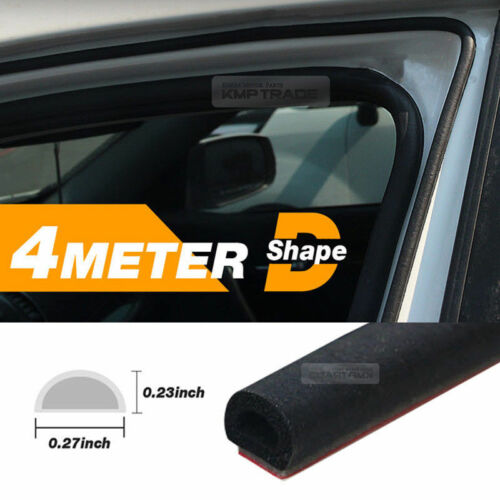 Car Door Wind Noise Seal D Shape Rubber Strip Molding 13Ft 1EA for JAGUAR Car
