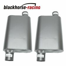 Pair Chambered Performance Race Offset 25 Inlet N25outlet Mufflers Weld On