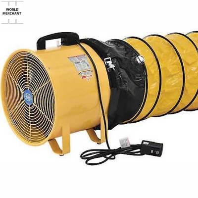 "Commercial Industrial Ventilation Fan 16"" 32 Ft Duct ..."