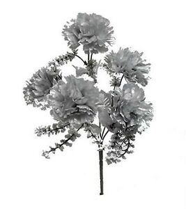 60 carnations silver wedding bridal bouquet silk flowers anniversary image is loading 60 carnations silver wedding bridal bouquet silk flowers mightylinksfo