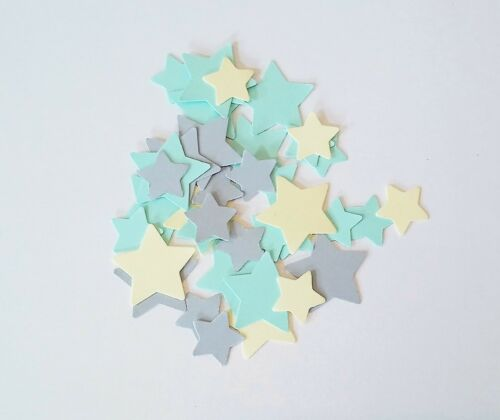 Yellow And Grey Handmade Table Confetti In Green Baby shower