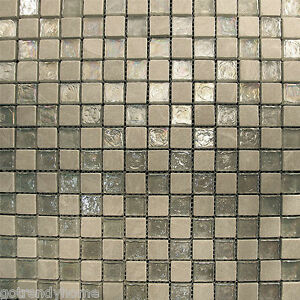 iridescent tiles bathroom sample silver tone iridescent amp glass mosaic tile 13277