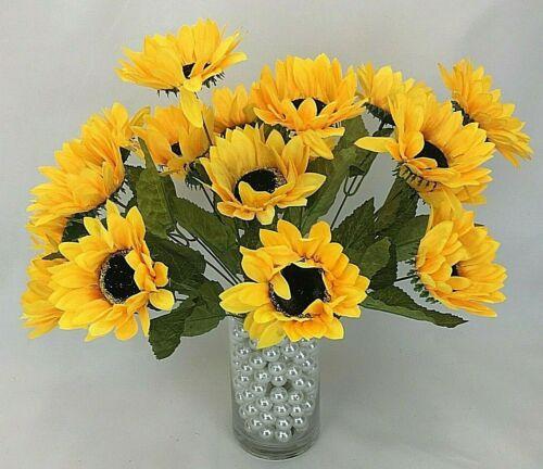 2 X Artificial Flower Sun Flower Bunch //Flower Arrangement//Home Decor.