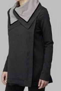 lululemon athletica heathered gray cotton savasana wrap