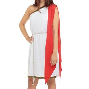 Student Grecian Party Toga Adults Roman Dress Fancy Robe Ladies Mens tQCdrsh