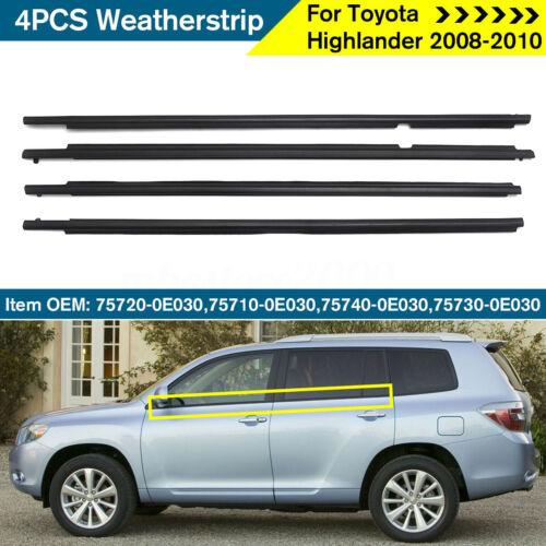 4X Weatherstrip Window Molding Trim Sill Seal Belt For Toyota Highlander