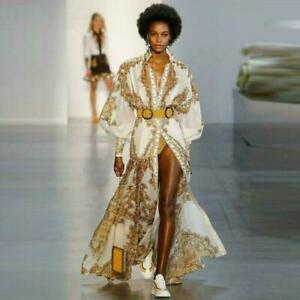 Unbranded-Dress-Vintage-Long-Sleeve-Dresses-Size-S-M-L-Women-Full-Long-Dress