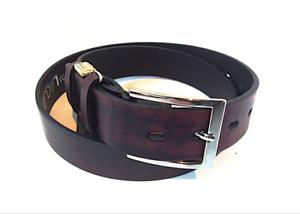 """Gürtel 46"""" Srp £29.99 Rabatte Verkauf Kleidung & Accessoires Romantisch Lacuzzo Leather 35mm Belt/vintage Wine"""