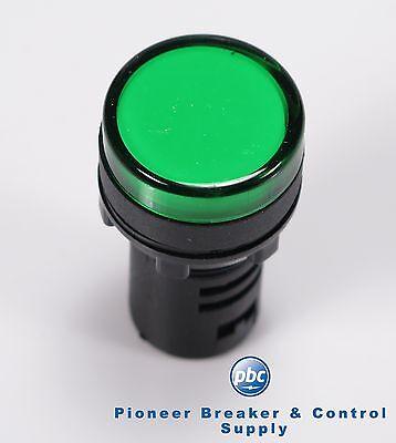 LOT OF 10 **YC-P22G-120 Green LED Pilot Light Panel Light Indicator 22mm 115V AC