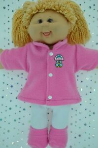 Play-n-Wear-Dolls-Clothes-For-16-034-Cabbage-Patch-CANDY-PINK-JACKET-TIGHTS-BOOTIES