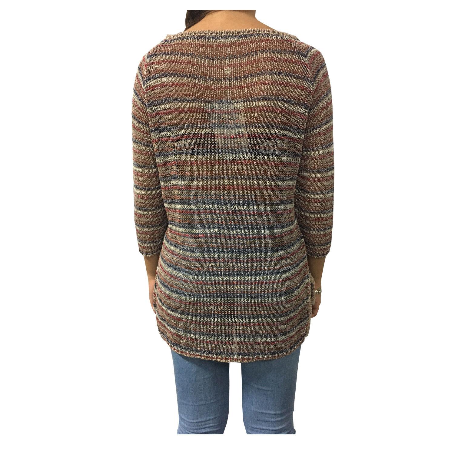 a9a7c1b03d ... GUITARE GUITARE GUITARE maglia donna multicolore mod IRACHE 56% cotone  34% poliestere 8%