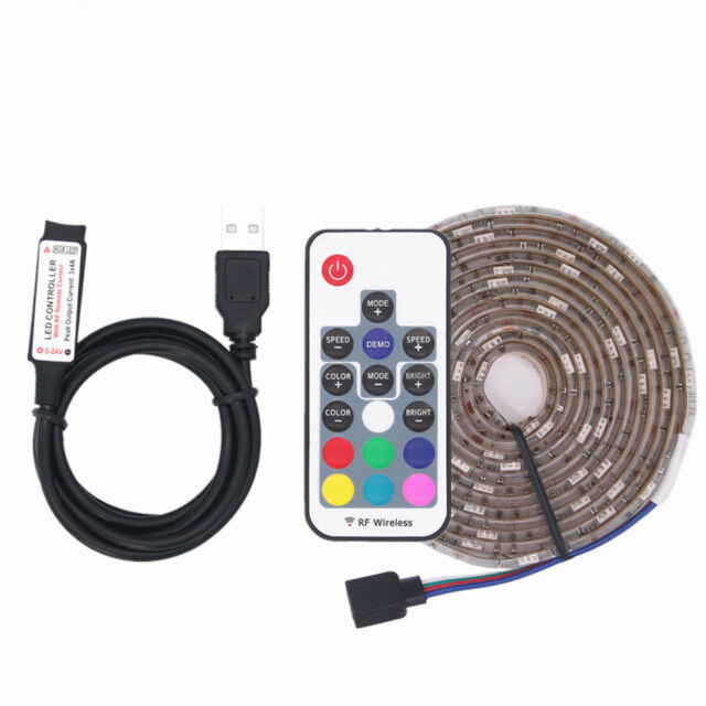 DC 5V 5050 RGB LED Strip Waterproof  USB LED Light Strips Flexible Tape 0.5-5M