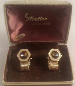 Details about vintage stratton cufflinks boxed - vintage cufflinks stratton  England