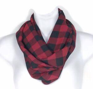 c2abde274 Buffalo Check Infinity Scarves Red and Black Chiffon Scarves Buffalo ...