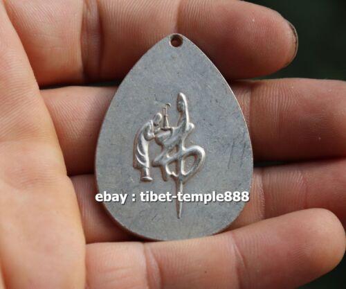 5 CM Tibet Buddhism Bronze Silver Sakyamuni Shakyamuni Gautama Buddha Pendant