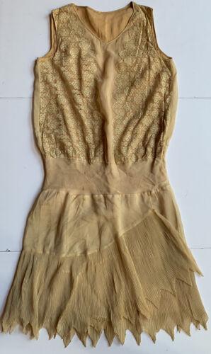 True Antique Vintage 1920's Young Woman's Dress Fl