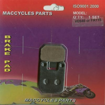 Front Organic Brake Pads 1997-2000 Montesa 315 R Set Full Kit  Complete rv