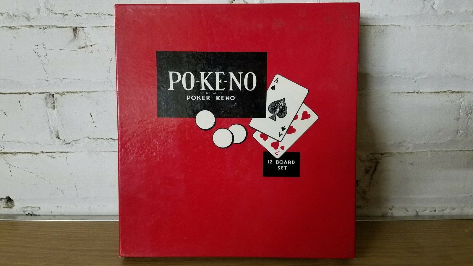 Vintage Po-Ke-No POKENO Poker Keno 12 Board Set Game Cincinnati, OH COMPLETE