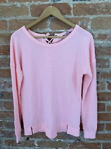 NEXT-WOMENS-NEON-PINK-SWEATER-WITH-TIE-BACK-SIZE-XS-BNWT-RRP-26