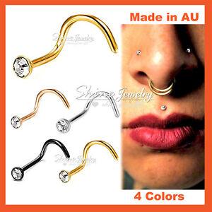 1-x-Titanium-Surgical-Steel-Lab-Diamond-Nose-Stud-Bone-Body-Piercing-Ring-Gift