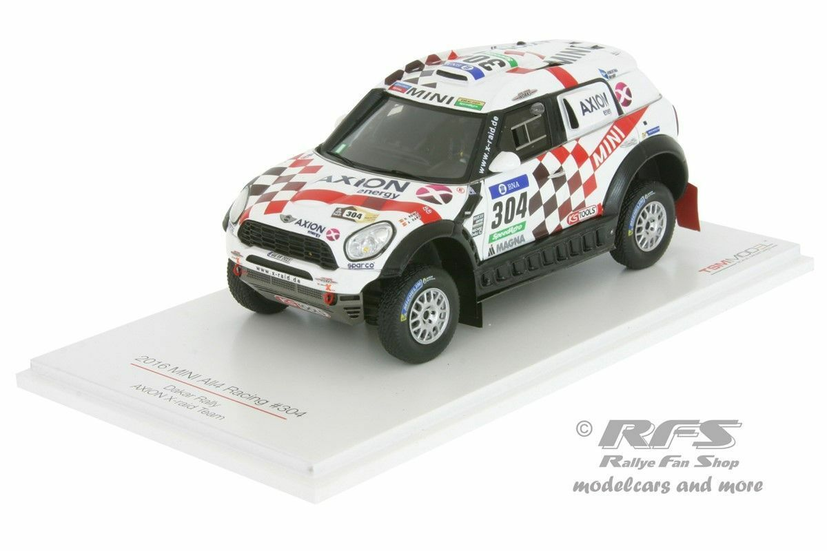 Mini all4 racing-rallye Dakar 2016-ROMA Haro  304 - 1 43 TSM MODEL 430234