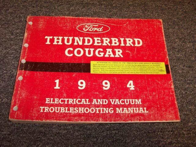 1994 Ford Thunderbird Electrical Wiring  U0026 Vacuum Diagram