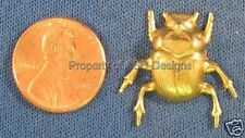 6pc Raw Brass Leaping Grasshopper Insect Finding 4438