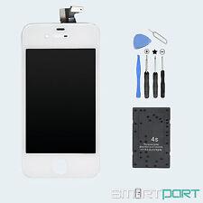 PREMIUM iPHONE 4 DISPLAY TOUCHSCREEN LCD FRONT GLAS SCHEIBE WERKZEUG SET WEIß