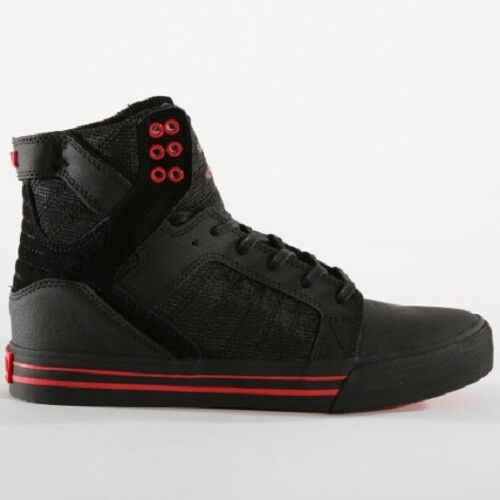 New 08174 053 5 Black Risk Supra Skateboarding Skytop Red 7 Mens Shoes AR5qc34Lj