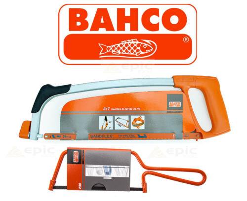 "TWIN PACK Bahco 317 Pro 12/"" 300mm Hacksaw /& 239 Junior Mini 6/"" 150mm Metal Saw"