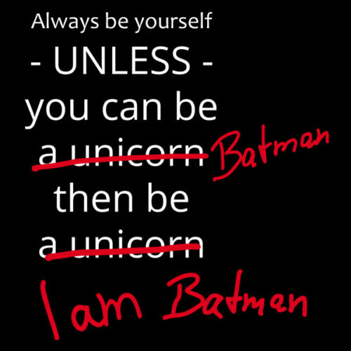 "Nukular Turnbeutel Motiv /""Always be yourself/"" für Fans von Batman Fun Einhorn"