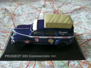PEUGEOT 203 COMMERCIALE 1951 Raid Paris-Le Cap-Paris NOREV 1:43 blister