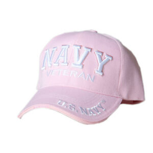 US-Honor-Embroidered-Navy-Veteran-Pink-Baseball-Caps-Hats