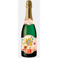 Pictura Champagne Bottle Card - Birthday Flowers - Pc-0210-035