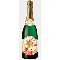 Pictura Champagne Bottle Card - Birthday Flowers - 35