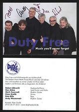 Duty Free  original Autogramme Musik-Band DUTYFREE