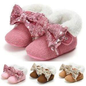 Kids-Baby-Toddler-Boys-Girls-Leather-Winter-Bootie-Warm-Snow-Shoes-Boots-Comfy
