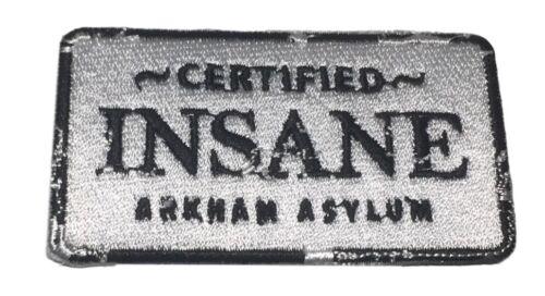 Batman Certified Insane Arkham Asylum Iron On Patch