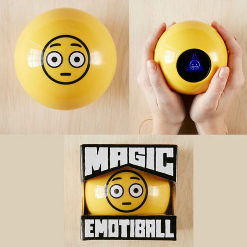 NEW MAGIC EMOTIBALL EMOJI FORTUNE TELLING BALL MAGIC 8 BALL