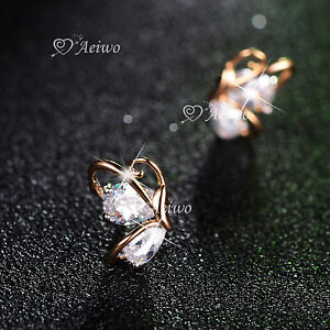 18K-YELLOW-GOLD-FILLED-MADE-WITH-SWAROVSKI-CRYSTAL-EARRINGS-BUTTERFLY-STUD