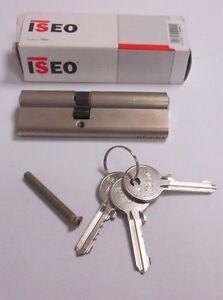 Details about ISEO Euro Cylinder 95mm 40mm / 55mm Door Lock Nickel C/W 3  Keys UPVC PVC 5 PIN